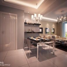 2018面积106平现代三居餐厅效果图片欣赏