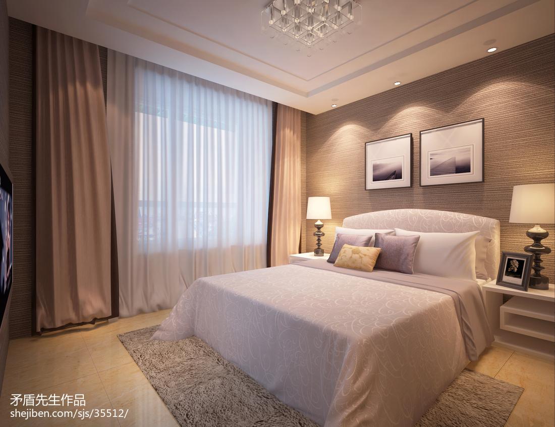 105平米三居卧室现代实景图片