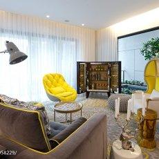 精选118平米混搭别墅客厅装修设计效果图