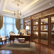 热门126平米欧式别墅书房装修图