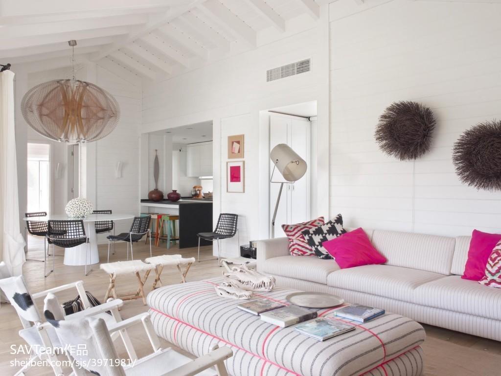 精选四居客厅混搭装修设计效果图