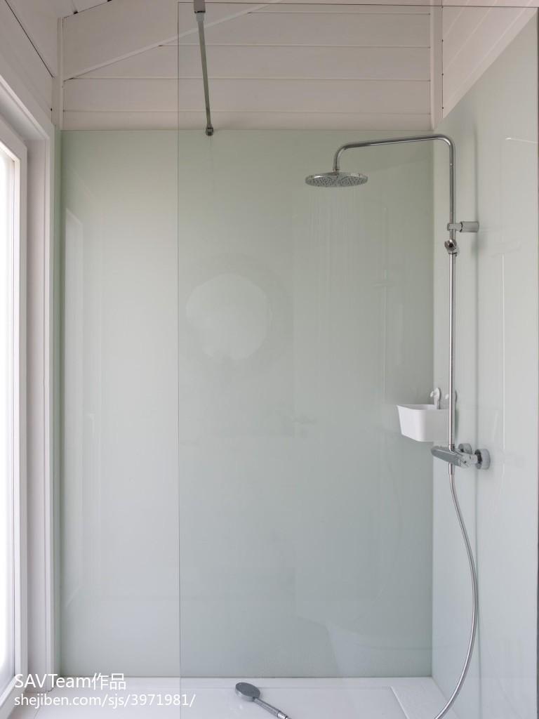 精美125平米四居卫生间混搭装修实景图片大全