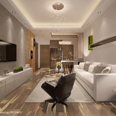 精美面积70平小户型客厅现代装饰图