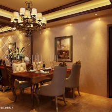 201890平米三居餐厅美式装修设计效果图片大全