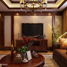 精美面积100平美式三居客厅装修效果图片