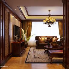 92平方三居客厅美式装修欣赏图