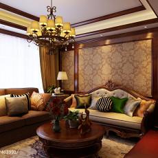 92平米三居客厅美式欣赏图片大全