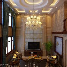 2018133平方欧式别墅客厅设计效果图