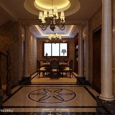 热门面积129平别墅过道欧式装修设计效果图
