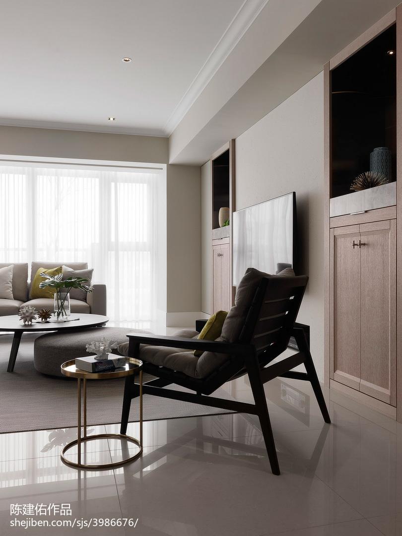 优雅102平现代三居装饰图片