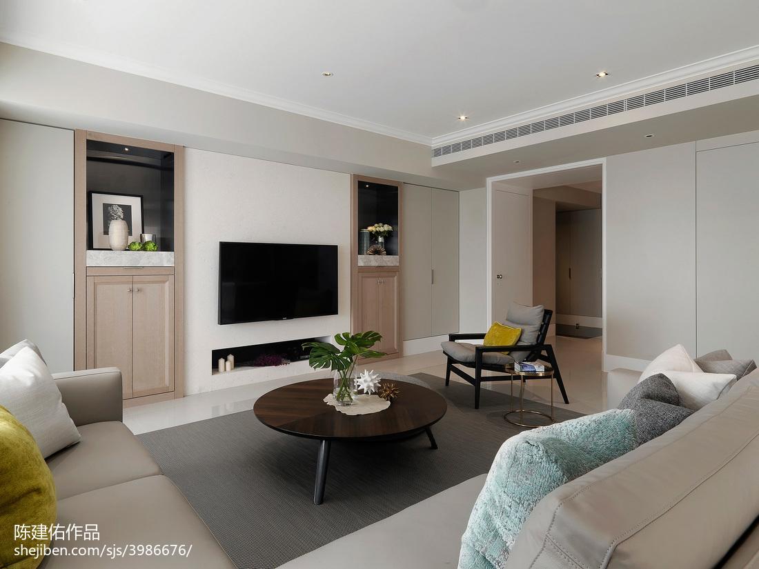 精美98平方三居客厅现代实景图