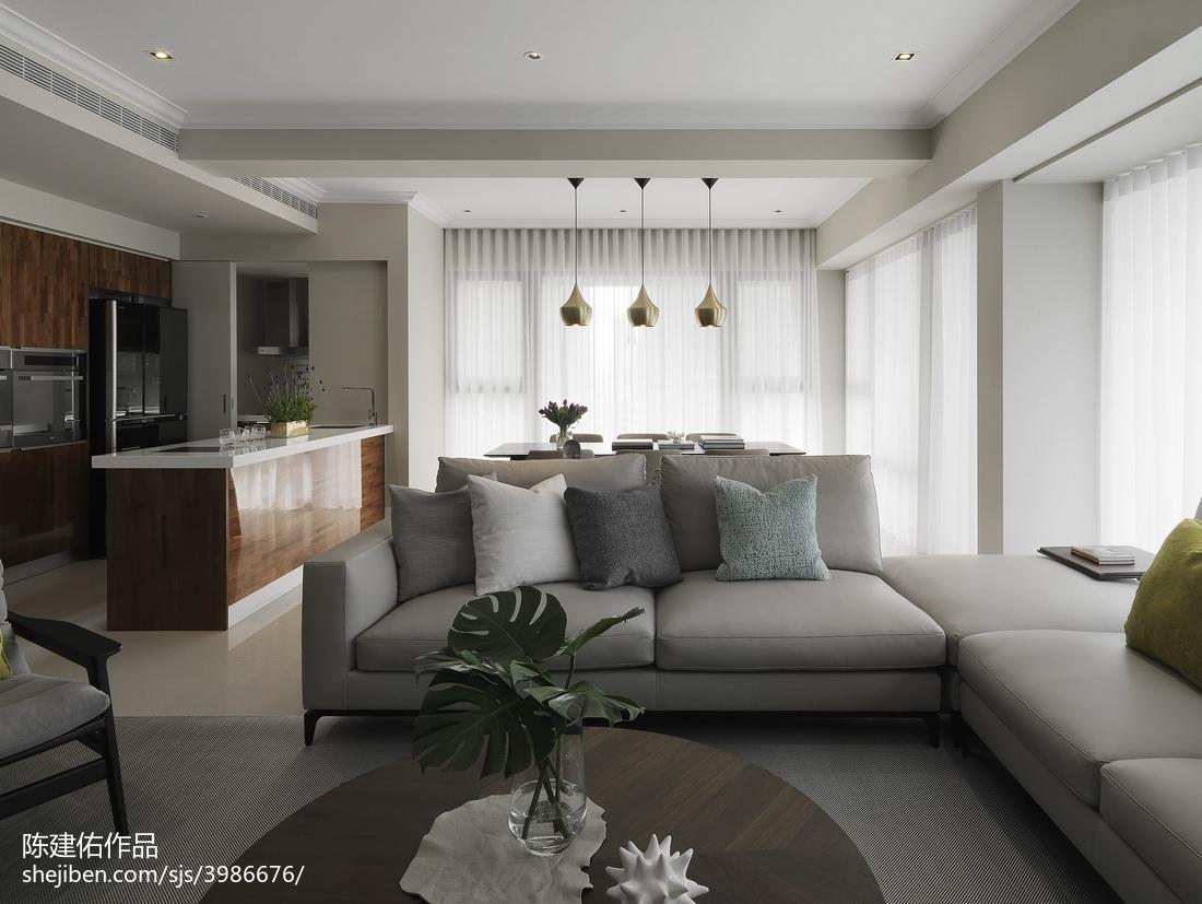 热门103平方三居客厅现代装修效果图