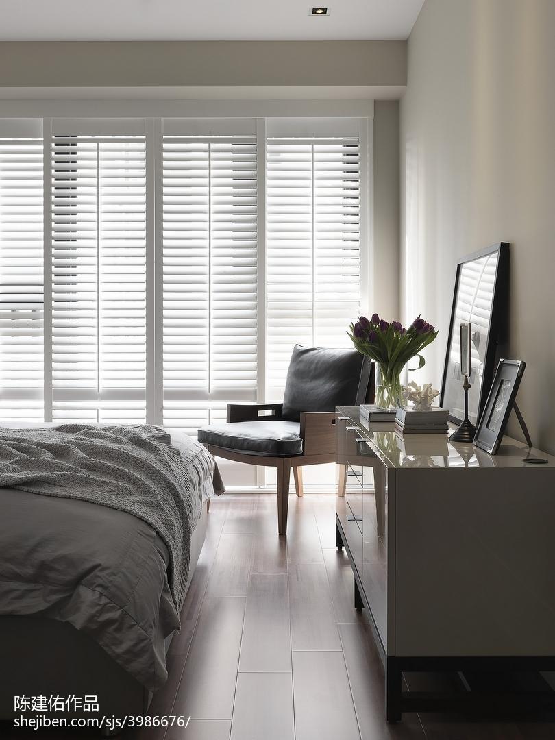 精美面积106平现代三居卧室设计效果图