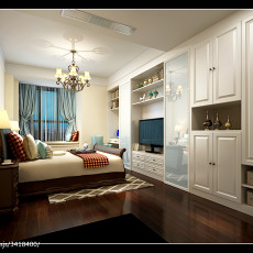 热门美式四居卧室装修设计效果图片欣赏