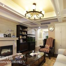热门137平米美式别墅客厅装修实景图片