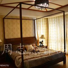 精美面积98平东南亚三居卧室欣赏图片