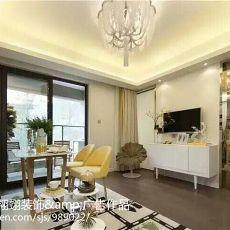 精美74平米现代小户型客厅装修实景图片