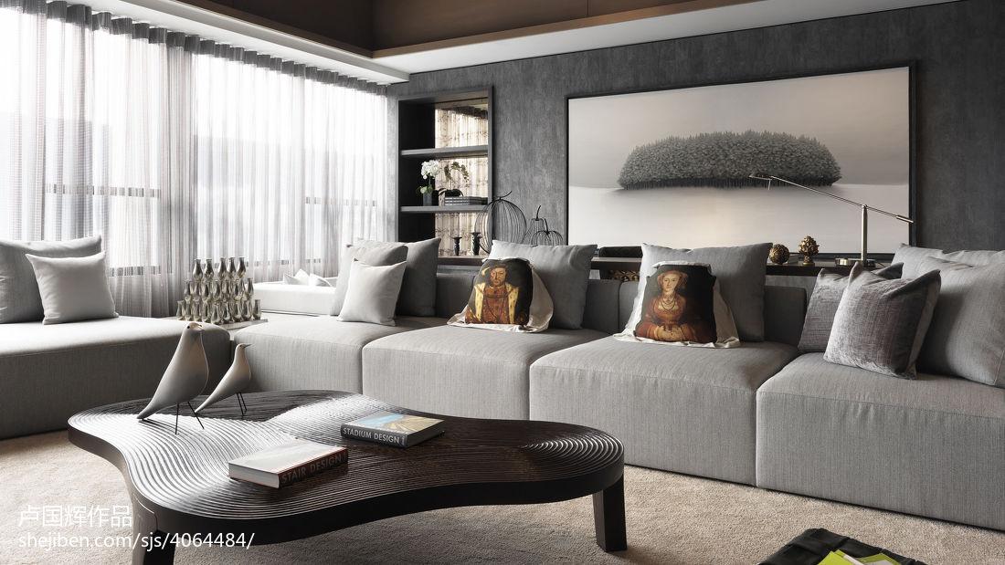 现代风客厅窗帘设计
