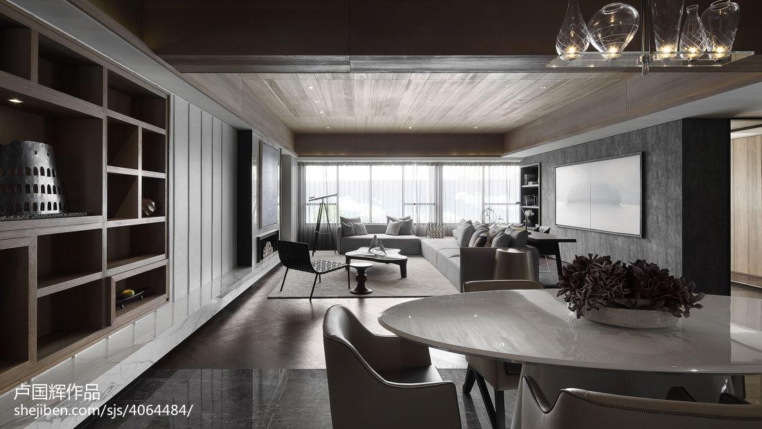 现代风餐厅博古架设计