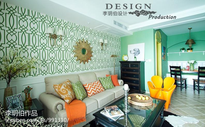 热门75平米二居客厅田园装饰图片大全