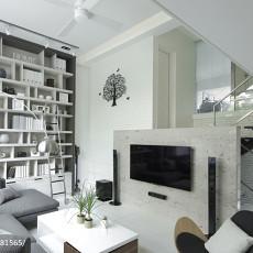 热门面积96平现代三居客厅装修效果图