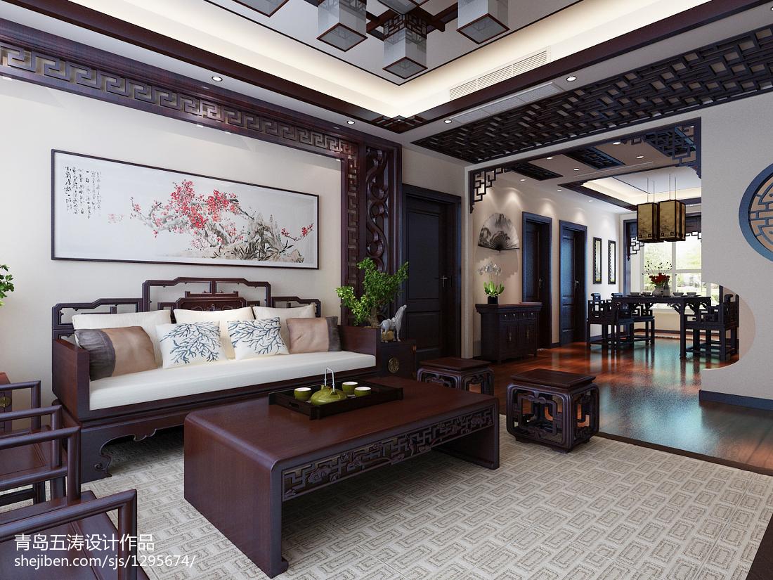 精美面积108平中式三居客厅装饰图