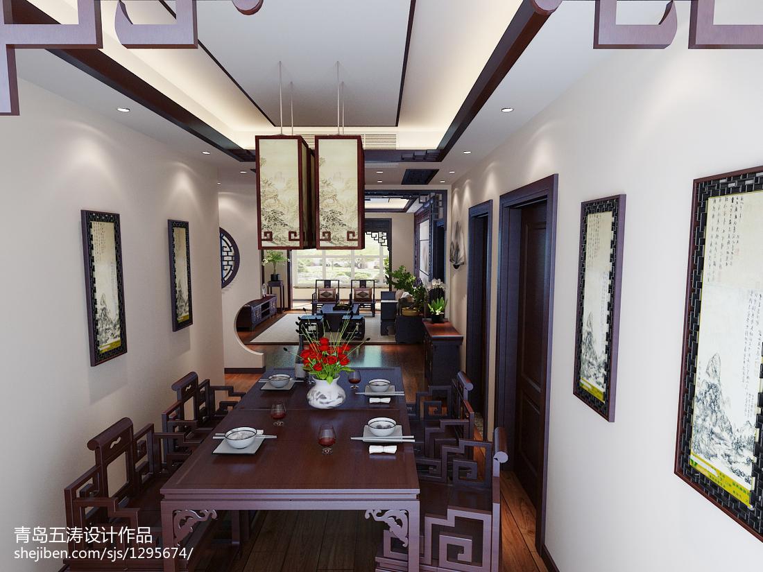精美面积92平中式三居餐厅装修效果图片欣赏
