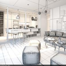 热门面积88平小户型客厅现代装修欣赏图片大全