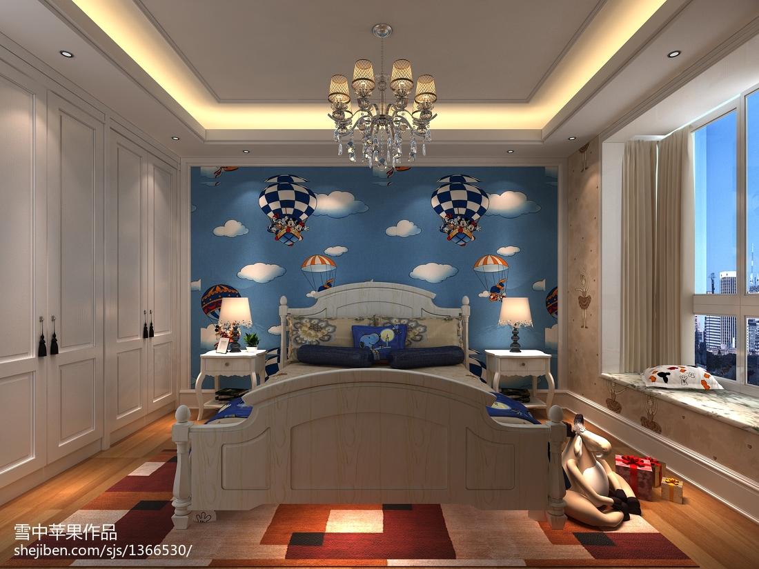 欧式浪漫马卡龙复式家居装潢