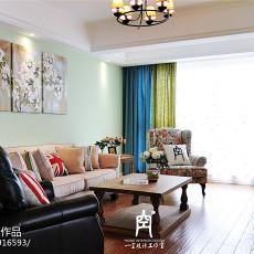 热门面积103平混搭三居客厅装修设计效果图片大全