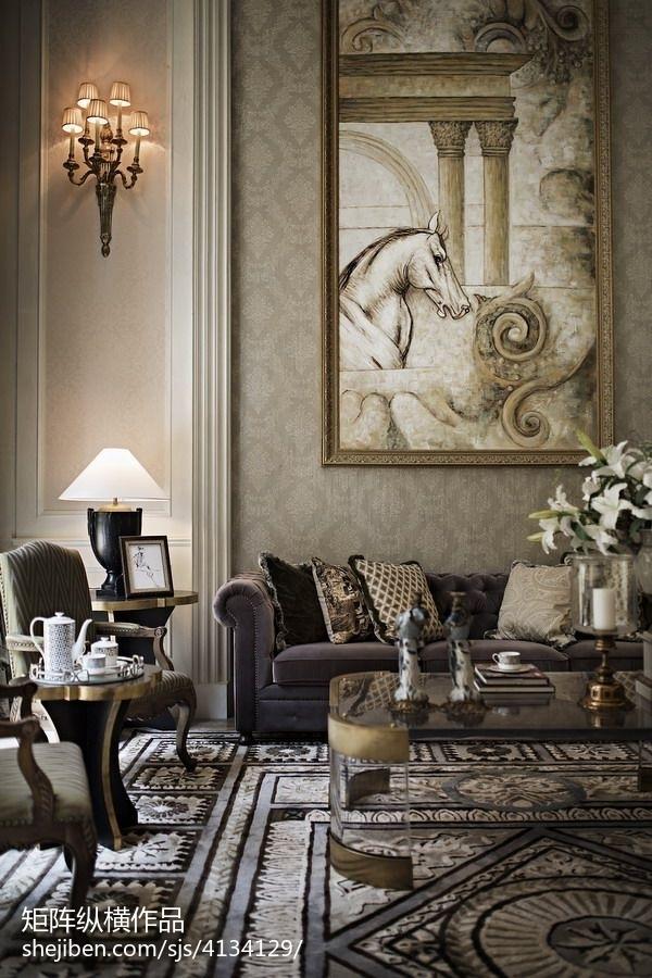 88.8平客厅混搭装修设计效果图片欣赏