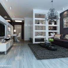 精美面积79平小户型客厅现代效果图片欣赏