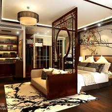 中式别墅卧室装修实景图片大全