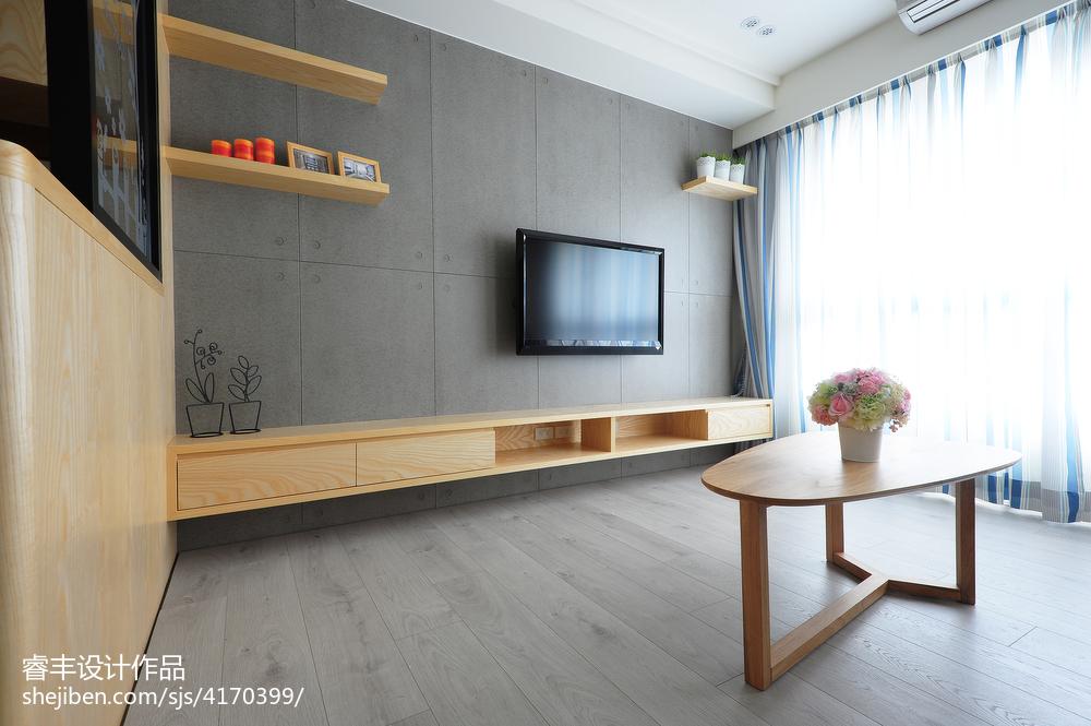 小客厅电视背景墙造型