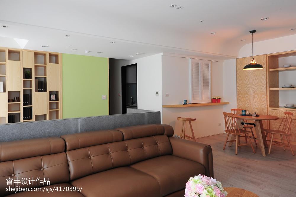 2018精选面积72平小户型客厅装修设计效果图片