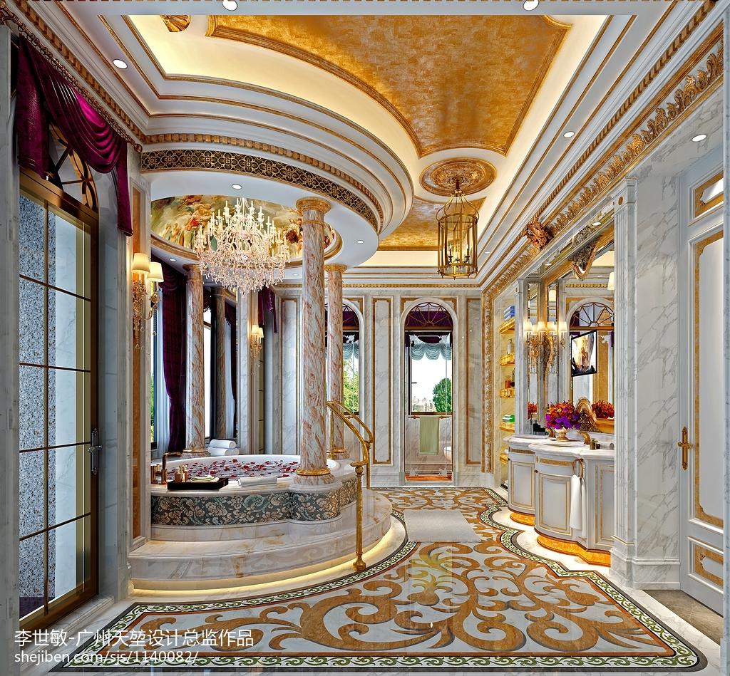 热门大小114平别墅卫生间欧式装修设计效果图片