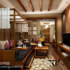 精选二居客厅东南亚装饰图片欣赏