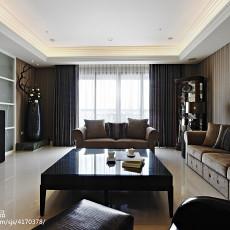 面积115平新古典四居客厅实景图片