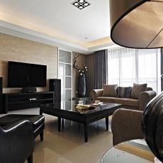 热门面积124平新古典四居客厅效果图