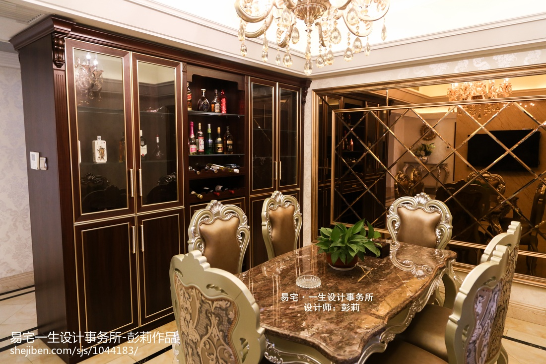 簡歐餐廳酒柜設計效果圖云集