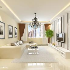 2018大小102平现代三居客厅装修效果图片大全