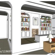 137平米四居书房现代装修欣赏图