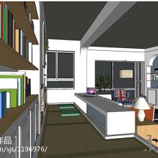 2018面积135平现代四居书房效果图片