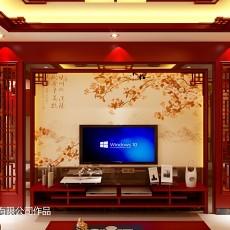 热门面积105平中式三居客厅装修效果图片大全