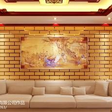 热门面积100平中式三居客厅实景图片欣赏