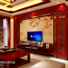 精美面积107平中式三居客厅装修欣赏图片大全