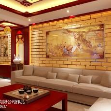 精选105平米三居客厅中式装饰图