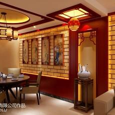 面积93平中式三居餐厅装修效果图片大全