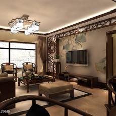 2018精选99平米三居客厅中式装修效果图片欣赏