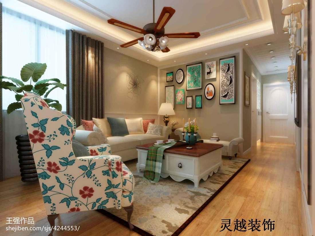 热门76平米二居美式装修设计效果图片